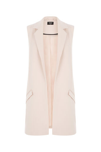 Oasis, Sleeveless Jacket Pale Pink 0