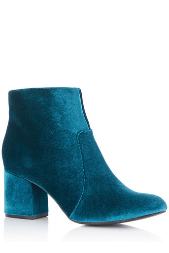 Oasis, VELVET KITTY BOOTS Teal Green 0