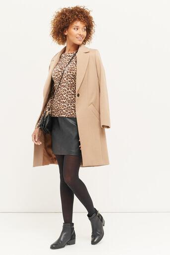 Oasis, Mini-jupe en simili cuir Noir 2