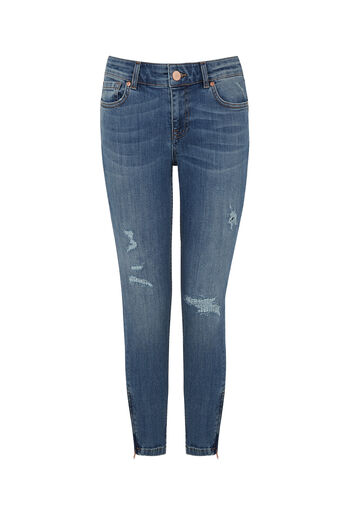 Oasis, SLEEK ZIP SKINNY JEANS Denim 0