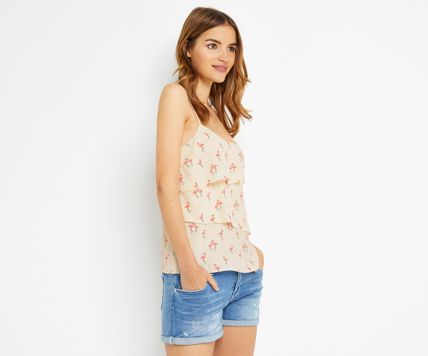 Oasis, FLAMINGO TIERED CAMI Multi Natural 1