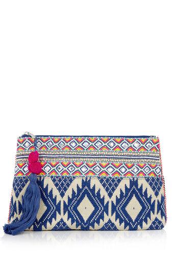 Oasis, Delhi Clutch Bag Multi Blue 0