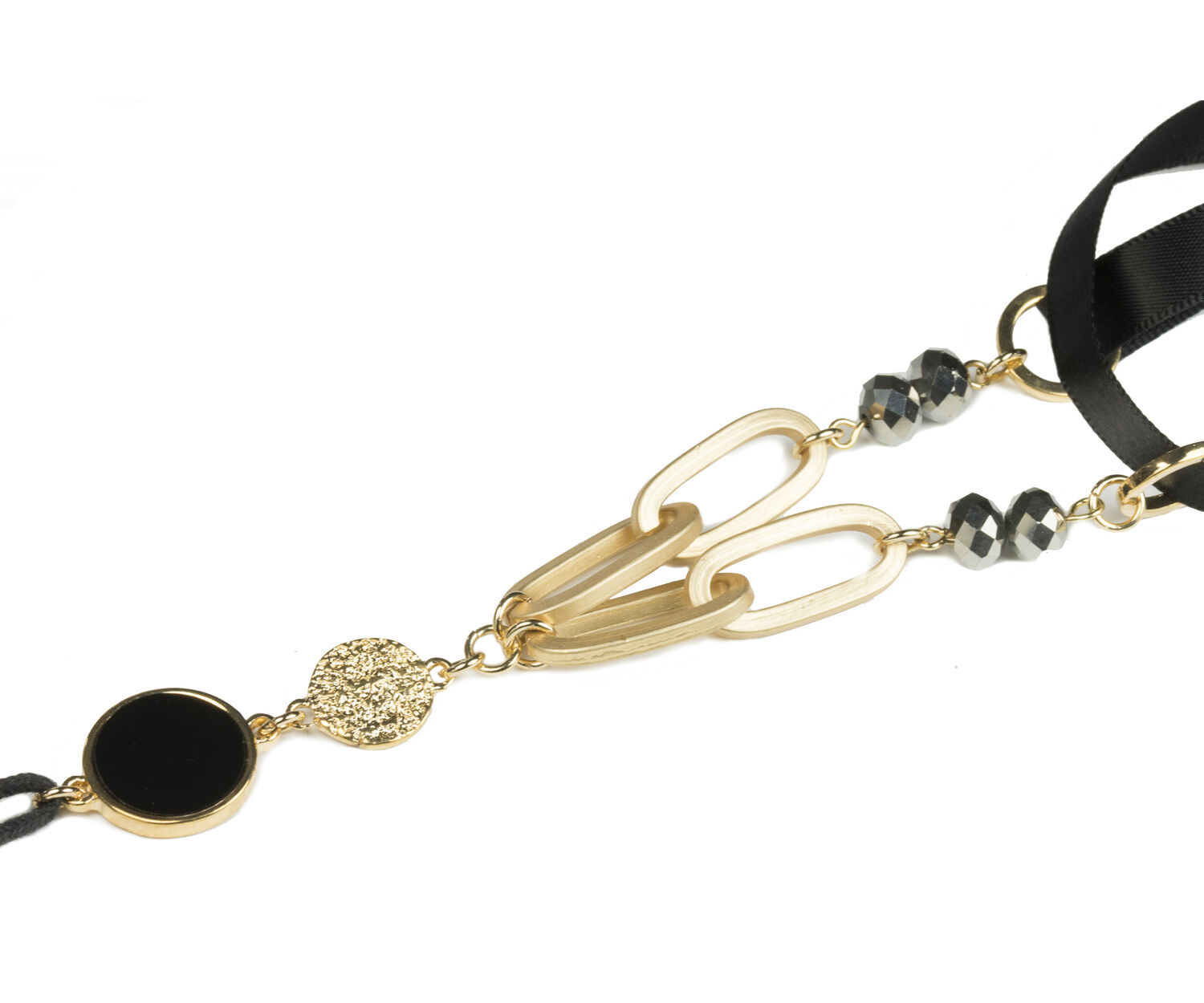 Oasis, BLACK TASSEL NECKLACE Black 1