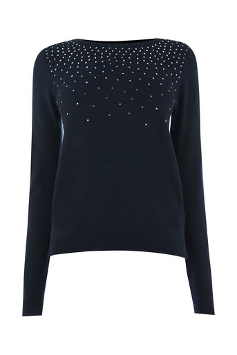 Oasis, Studded jumper Navy 0