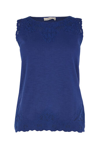 Oasis, BRODERIE TRIM SHELL Rich Blue 0