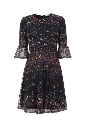 Oasis, DAISY PRINT DRESS Black 0