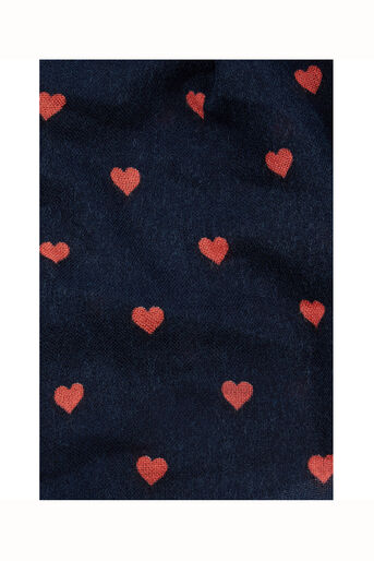 Oasis, Coral Heart Scarf Navy 2