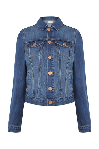 Oasis, Embroidered denim jacket Denim 0