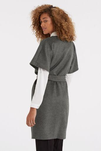 Oasis, Lexi Short Sleeved Coat Mid Grey 3