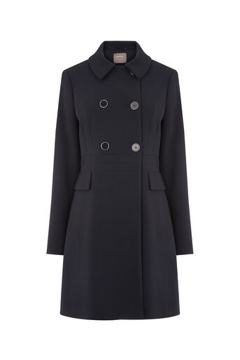 Oasis, DOUBLE BREASTED PRINCESS COAT Navy 0