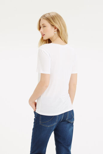 Oasis, Scoop Neck T-Shirt White 3