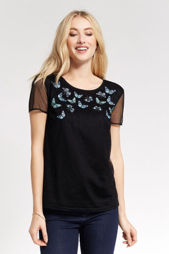 Oasis, FOREST BUTTERFLY TOP Black 1