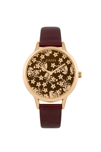 Oasis, Mirror Dial Watch Berry 0