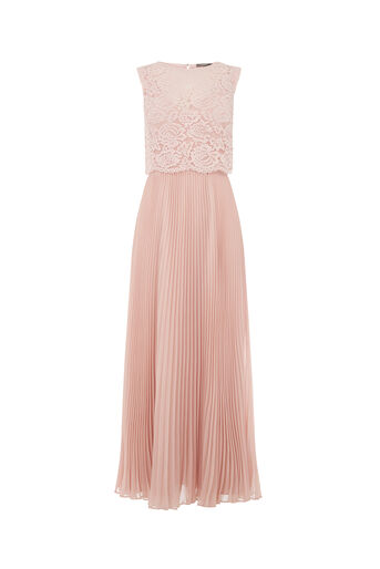 Oasis, 2 IN 1 LACE BODICE MAXI Dusky Pink 0