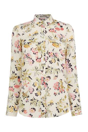 Oasis, Sofia Print Viscose Shirt Multi Natural 0