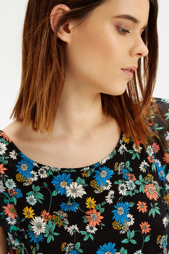 Oasis, Scattered Edie Frill T-Shirt Multi 4