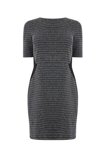 Oasis, TWEED SHIFT DRESS Mid Grey 0