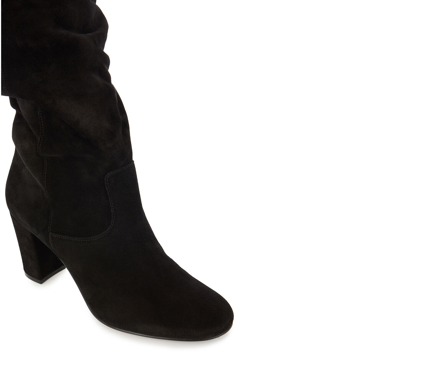 Oasis, SKYE SLOUCH SUEDE BOOT Black 1