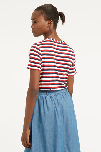 Oasis, MULTI STRIPE PERFECT TEE Multi 3