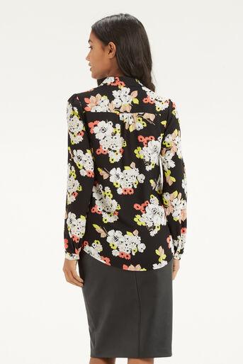 Oasis, Edie Floral Shirt Multi Black 3