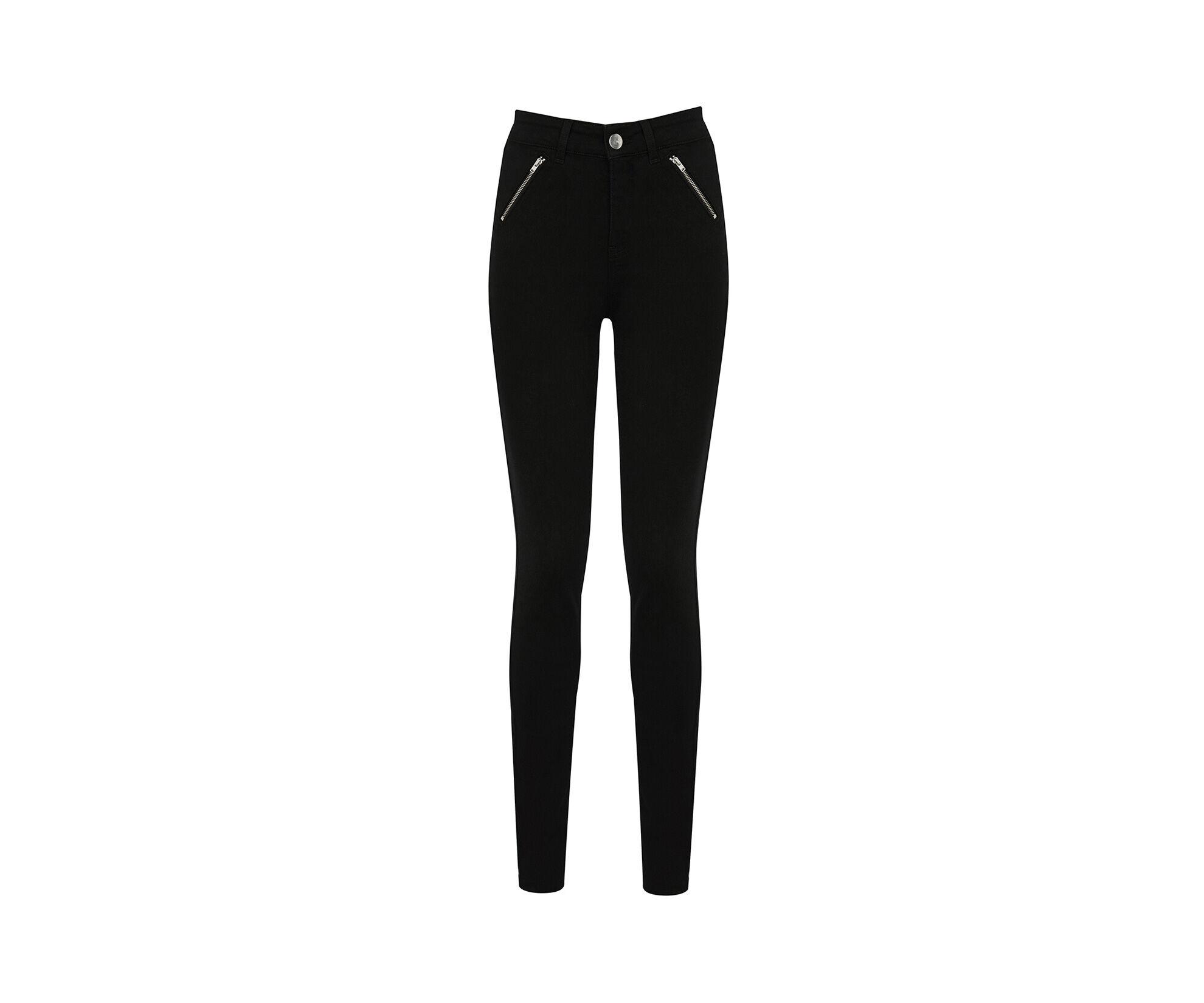 Oasis, Jade High-Waisted Biker Jeans Black 0