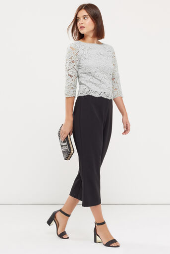 Oasis, LACE TOP Pale Grey 2
