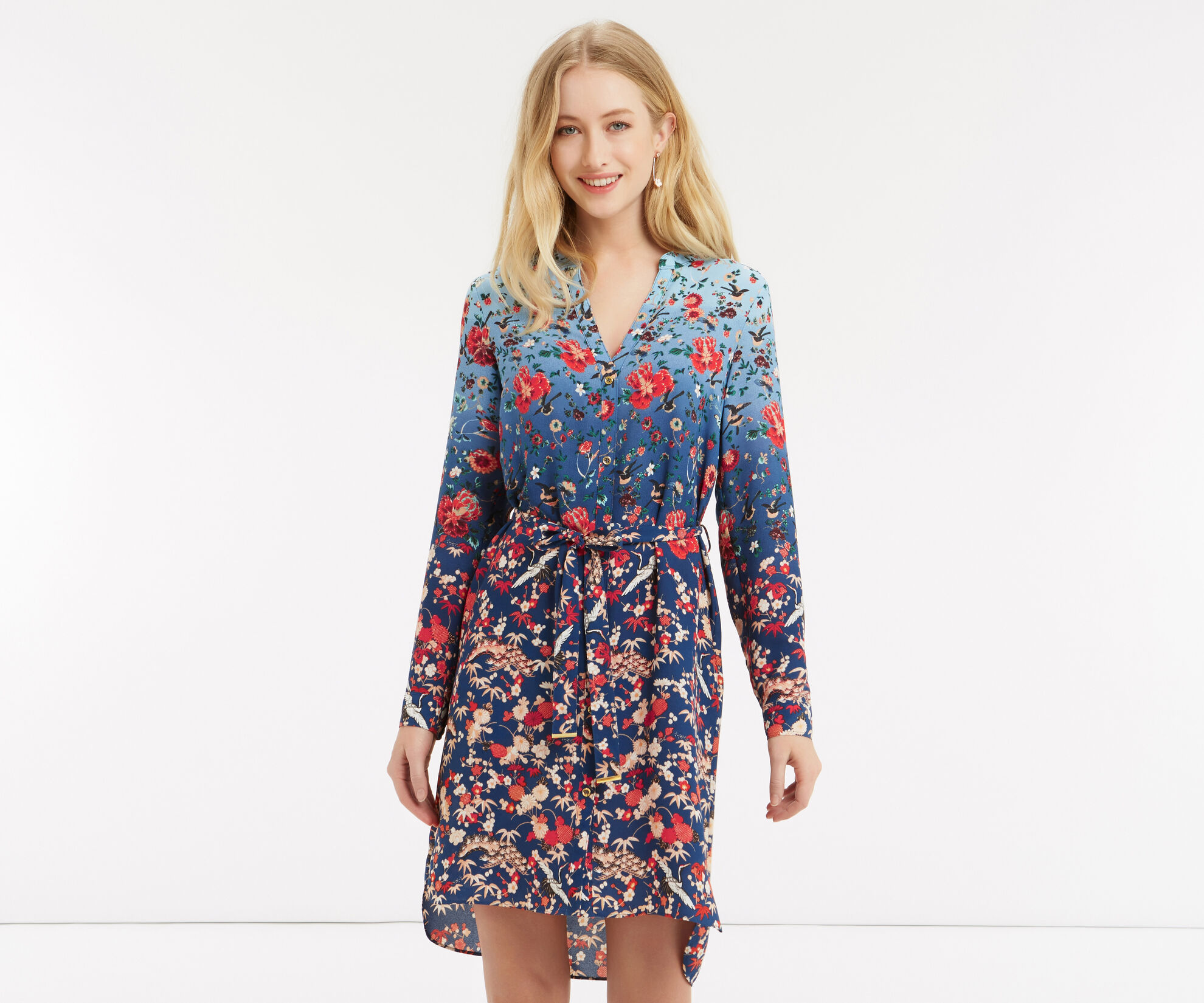 Oasis, V&A Shirt Dress Multi 1