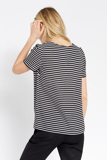 Oasis, DAYTIME STRIPE TEE Black and White 3