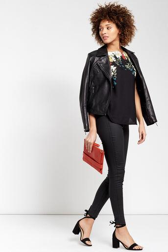 Oasis, T-shirt bouquet d'hiver Noir multicolore 2