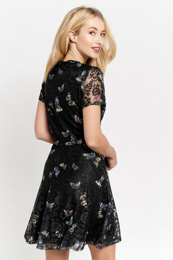 Oasis, FOREST BUTTERFLY LACE DRESS Black 3
