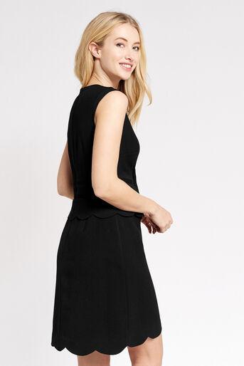 Oasis, SCALLOP SHIFT DRESS Black 3