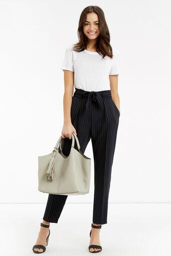 Oasis, Stripe Peg Trouser Multi Blue 2