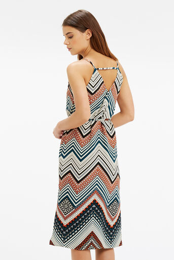Oasis, Chevron Stripe Midi Dress Multi 3
