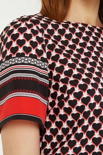 Oasis, Geo Heart Stripe T-Shirt Multi 4
