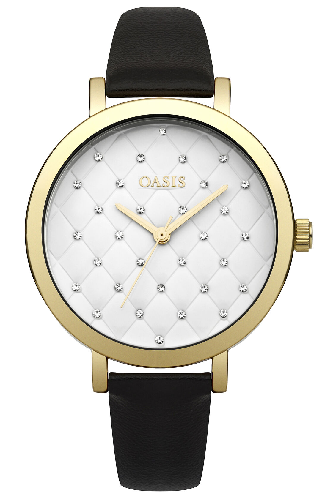 Oasis, Quilted Dial Watch Black 1