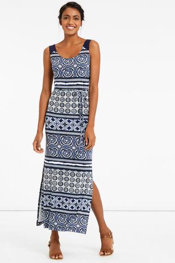 Oasis, TIE DYE MAXI DRESS Multi Blue 1