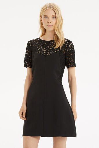 Oasis, Lace Patched Dress Black 1