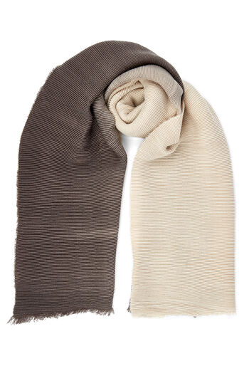 Oasis, OMBRE CRINKLE SCARF Multi Natural 0