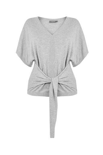 Oasis, Kimono Knit Mid Grey 0
