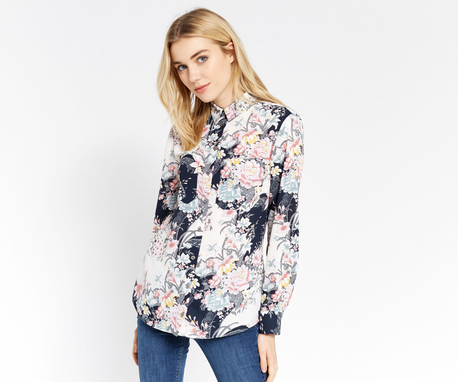 Oasis, LOTUS PRINT SHIRT Multi 1