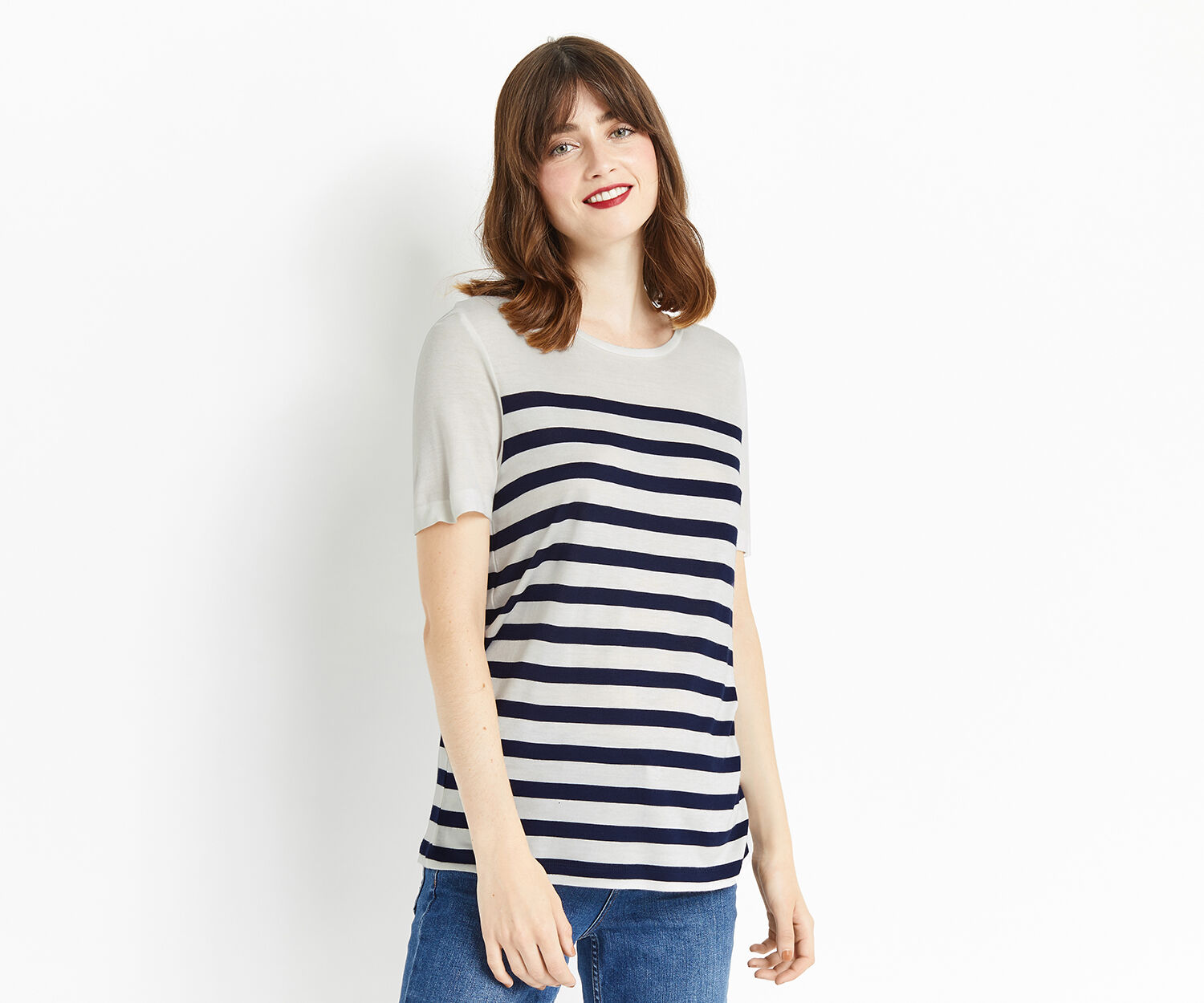 Oasis, BRETTON STRIPE TEE Multi 1