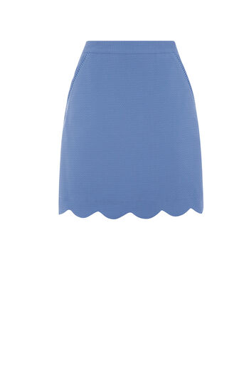 Oasis, SCALLOP POCKET SKIRT Mid Blue 0
