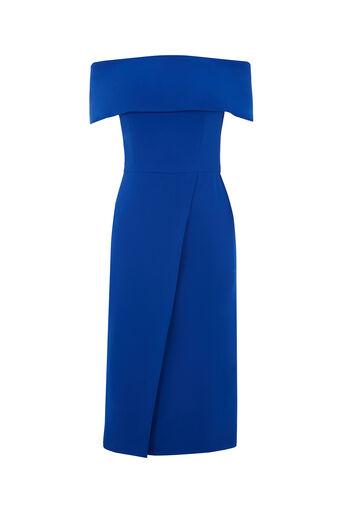 Oasis, BARDOT PENCIL DRESS Cobalt Blue 0
