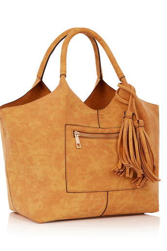 Oasis, HOLLY ZIP FRONT HOBO Camel 2