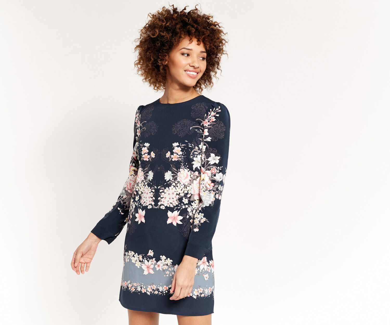 Oasis, LOTUS SHIFT DRESS Multi 1
