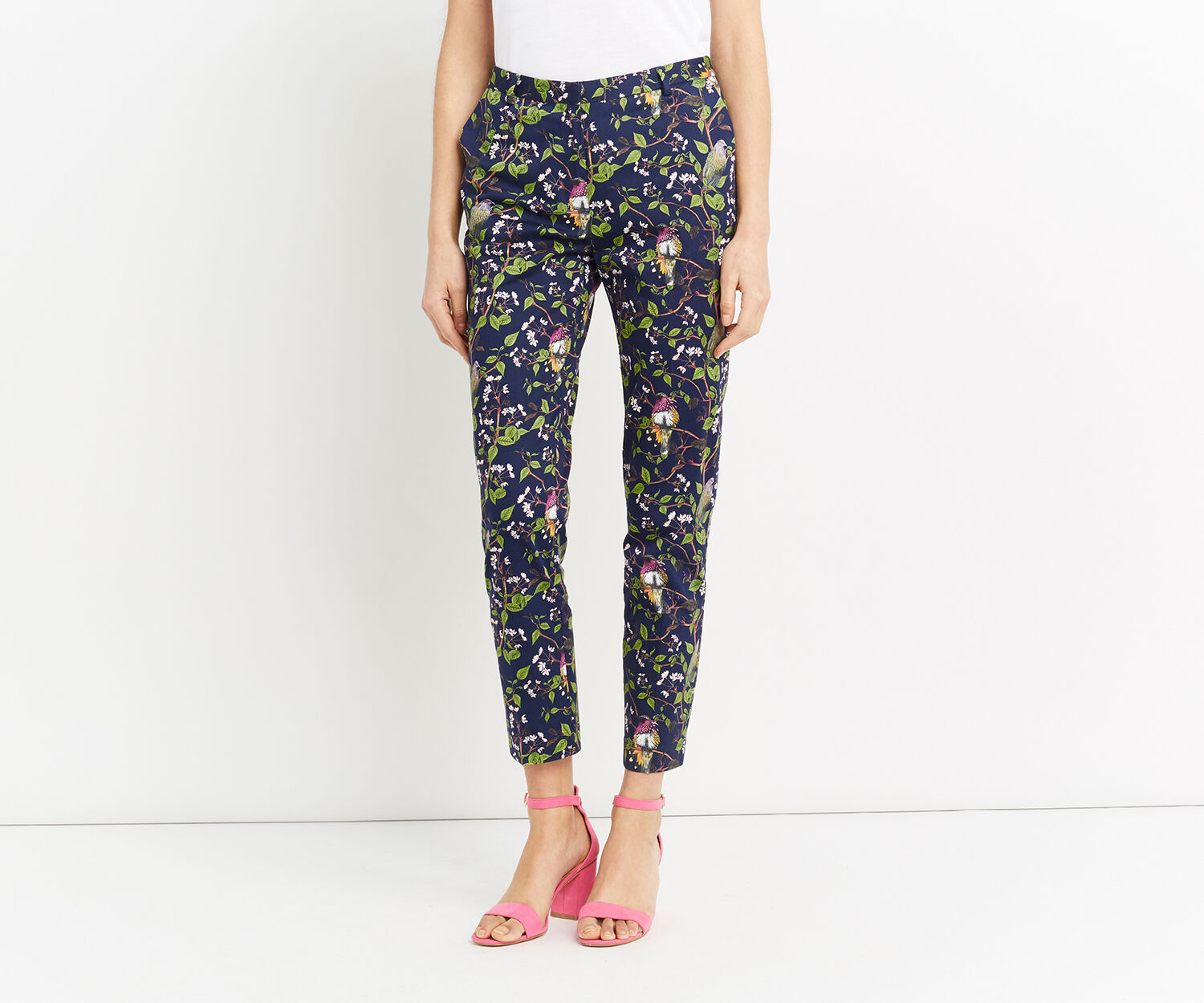 Oasis, TOPAZ BIRD STRUCTURE TROUSER Multi 1