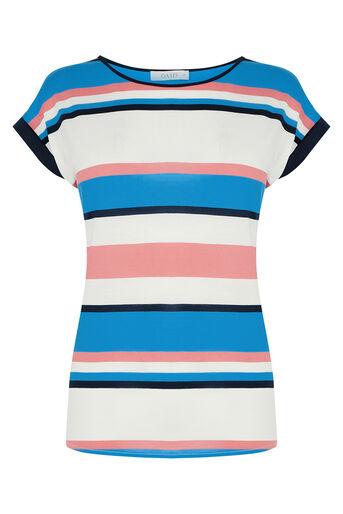 Oasis, Il De Ray Stripe T-Shirt Multi 0