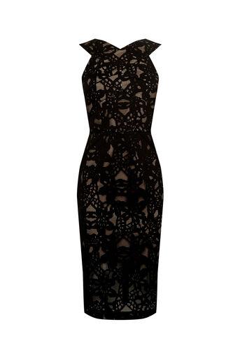 Oasis, LACE PENCIL DRESS Black 0