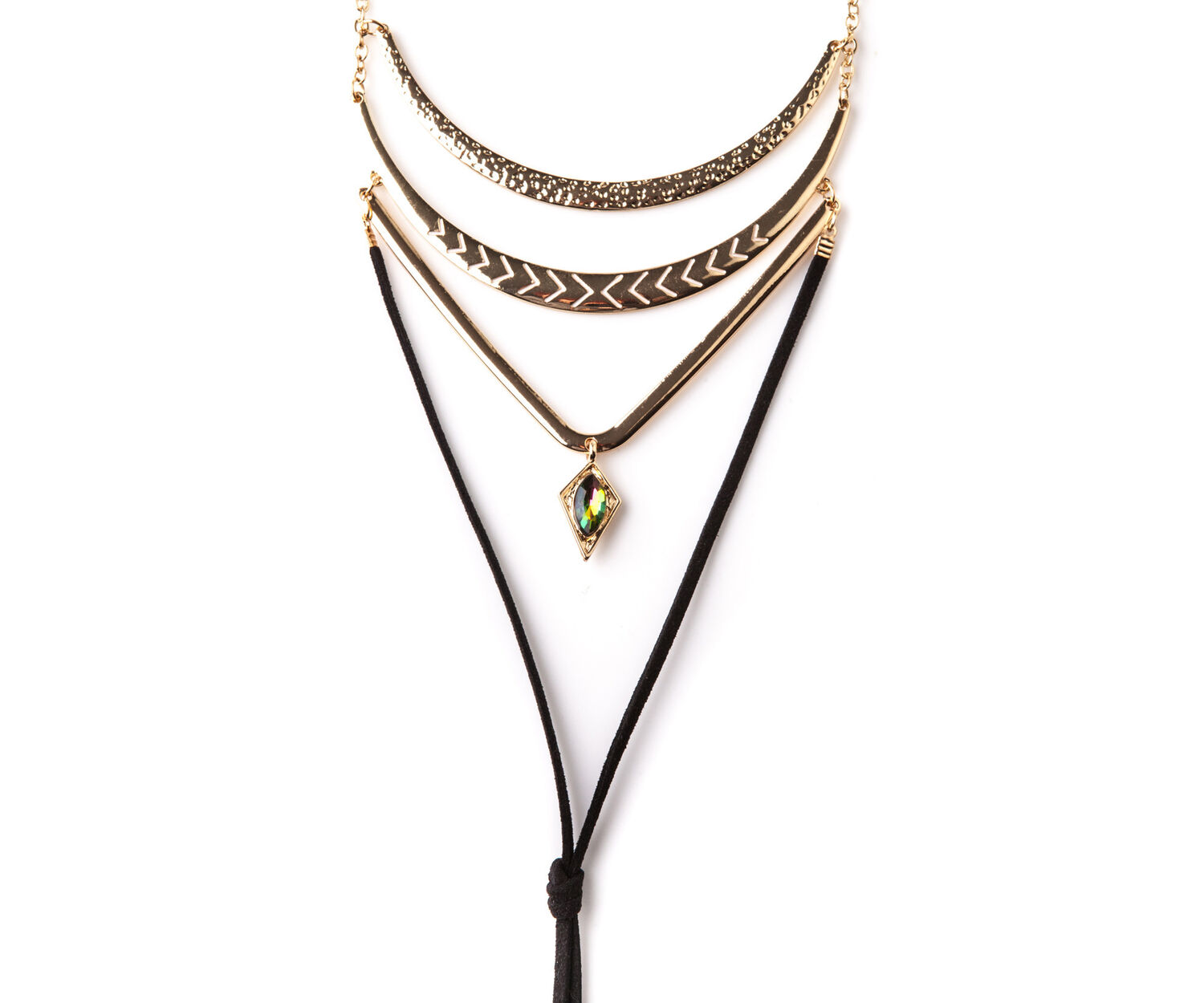 Oasis, LAYERED NECKLACE Black 1