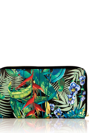 Oasis, TROPICAL TRAVEL PURSE Multi Black 0